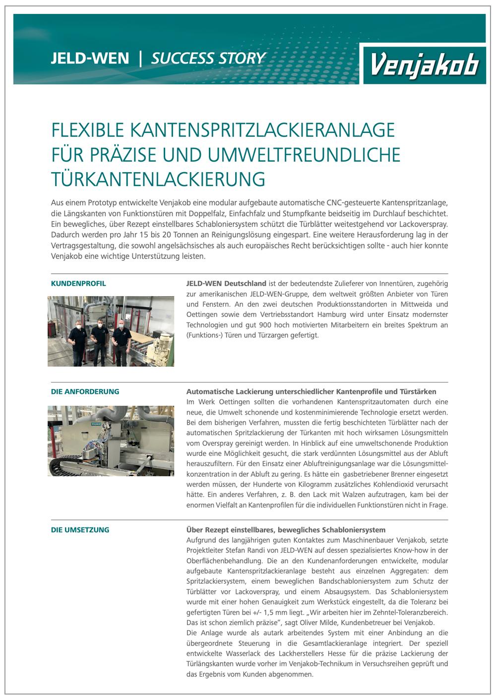 Succes Story Kantenspritzen
