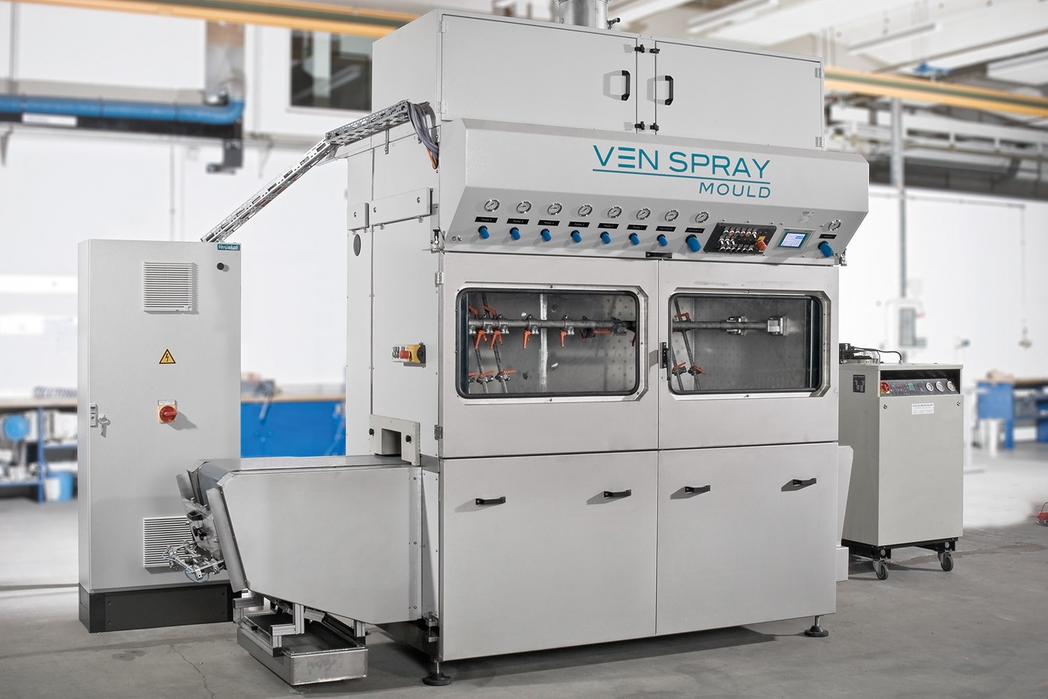 VEN SPRAY MOULD - the spray coating machine for mouldings and profiles
