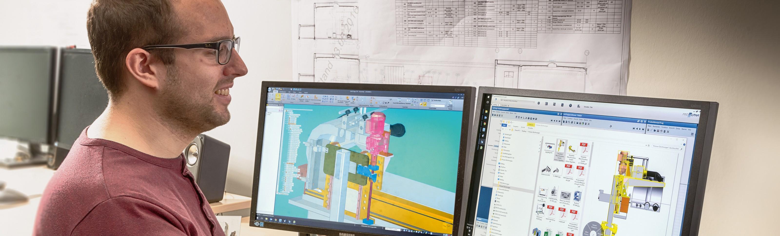 Abbildung Azubi technischer Produktdesigner